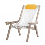 Coastal Weatherwood Rope Chair