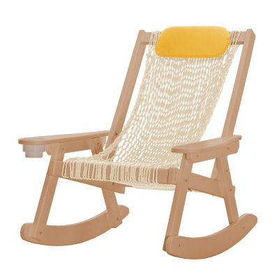 Coastal Cedar Rope Rocker