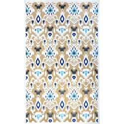Tan Machine Made Outdoor Ikat Charlotte Outdoor Rug