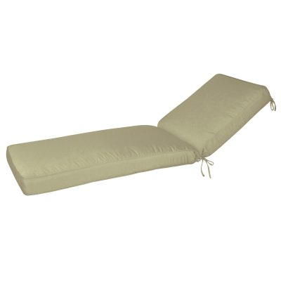 78in Sunbrella Chaise Lounge Cushion Box Edge Neutral2 Options