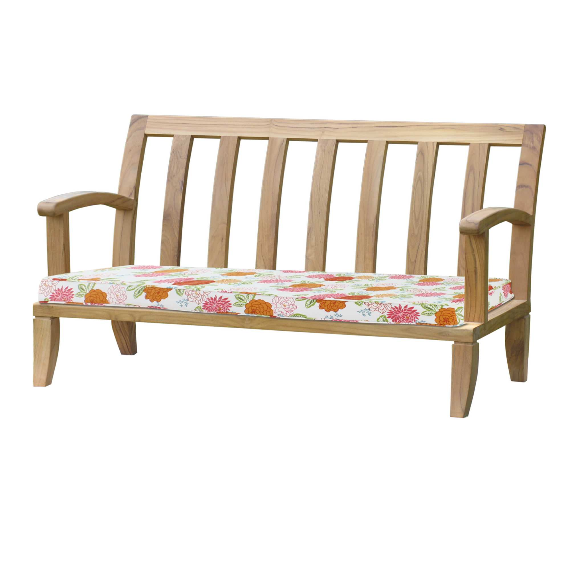 indoor shipping cushion fabric sunbrella garden product bench with today home traditional solid overstock outdoor free