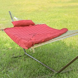 Rope Hammock with Hammock Pad, Pillow and Stand Combo