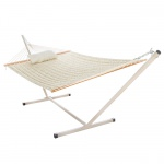 Quilted Hammock Combo with Small Stand and Pillow
