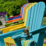 Comfo-Back Resin Adirondack Chair - 18 Colors
