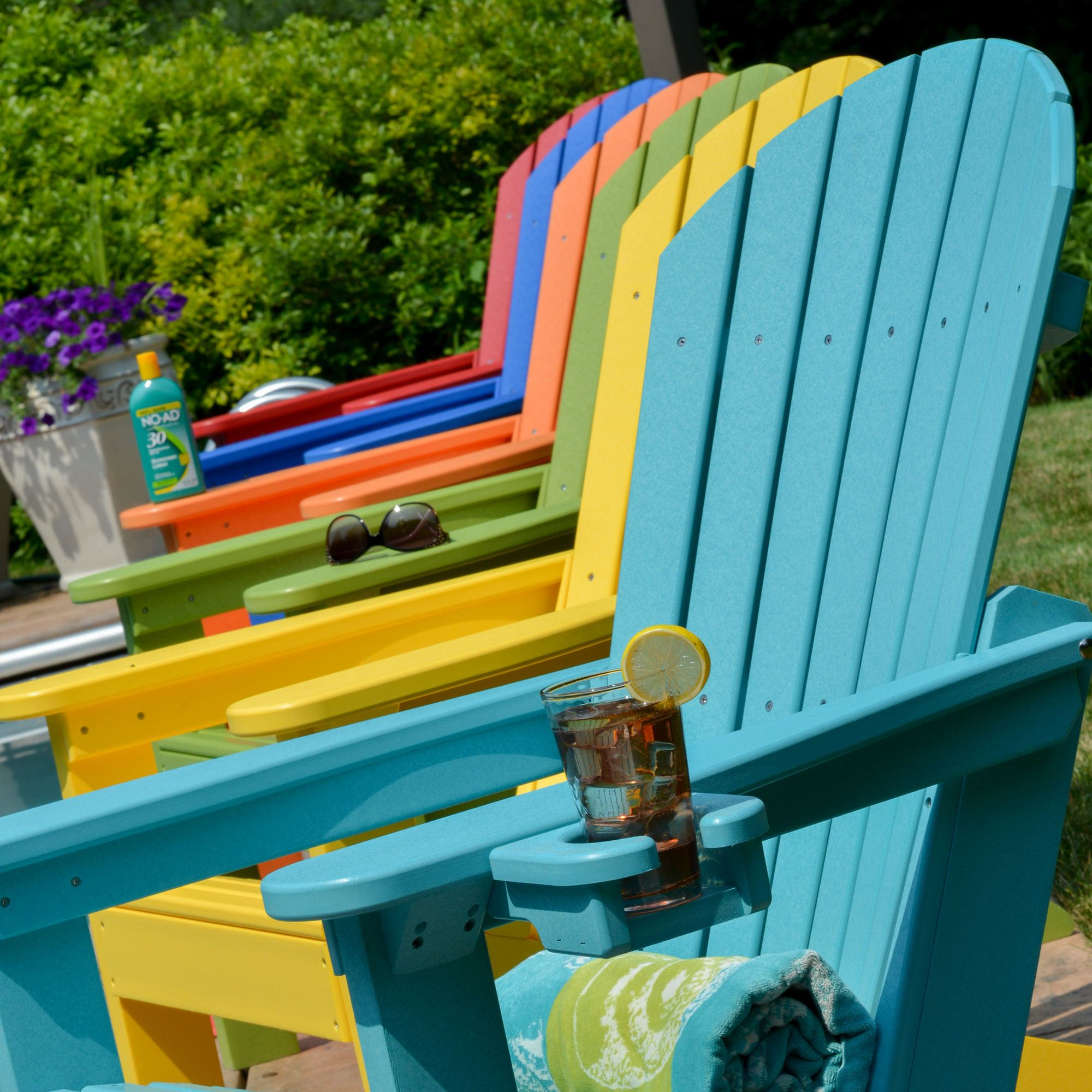 Comfo Back Resin Adirondack Chair 18 ColorsBerlin Gardens DFOHome