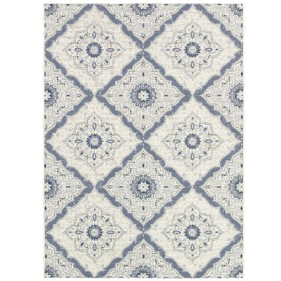 Dolce Brindisi Ivory and Gray Outdoor Rug
