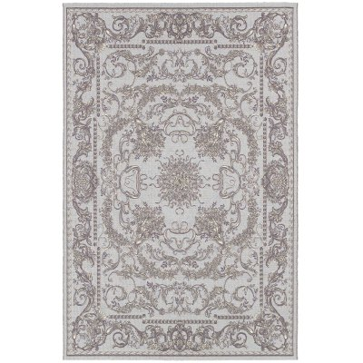 Dolce Messina Sky Blue and Gray Outdoor Rug