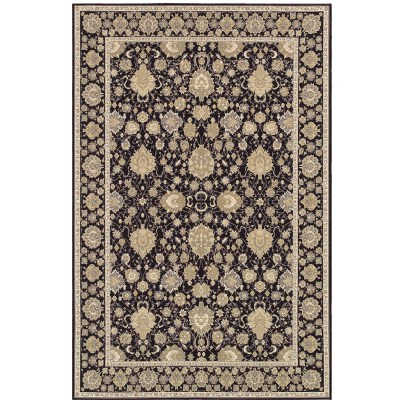 Dolce Pompano Black and Beige Outdoor Rug