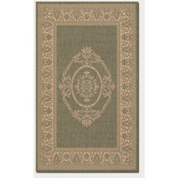 Recife Antq Medallion Green/Natural Outdoor Rug