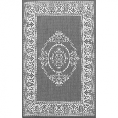 Recife Antq Medallion Grey/White Outdoor Rug