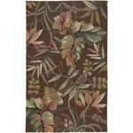 Covington Boca Retreat Light Cocoa/Fern Outdoor Rug