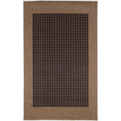 Recife Checkered Field Black/Cocoa Outdoor Rug
