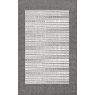 Recife Checkered Field Grey/White Outdoor Rug