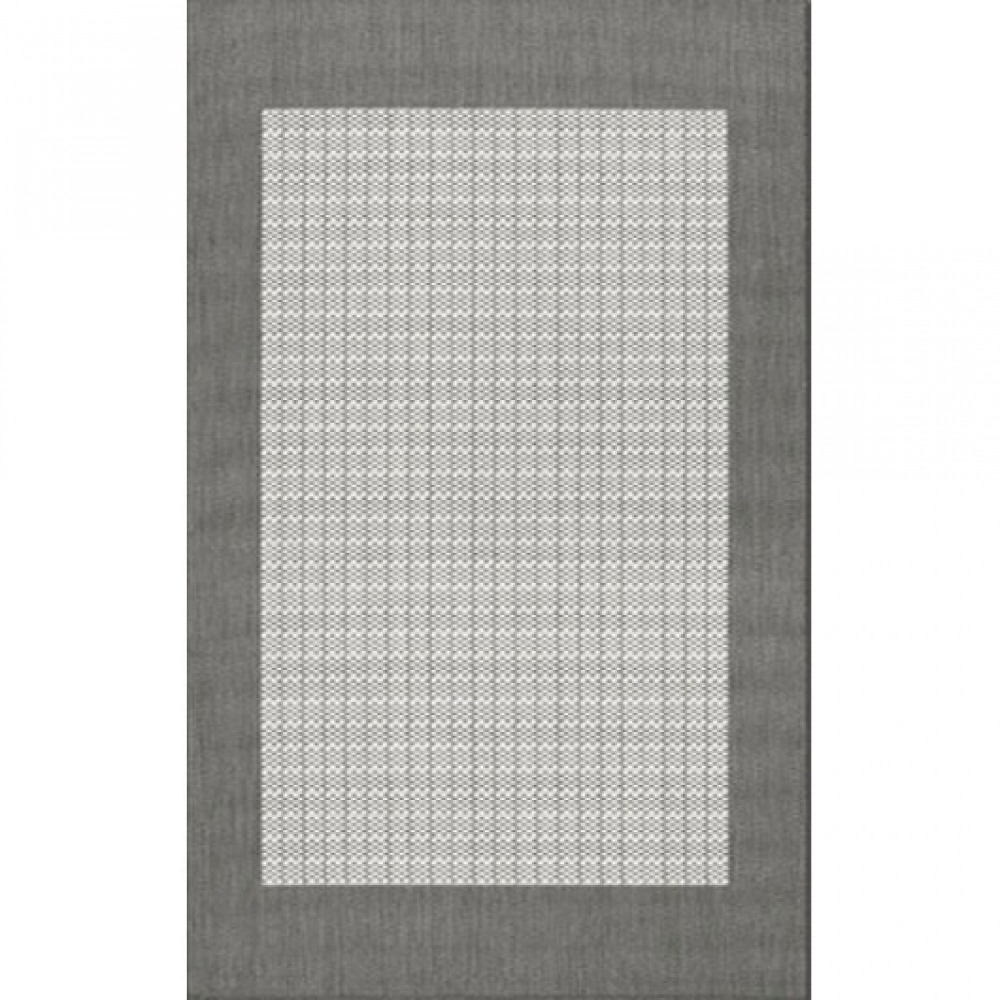 Checked Black Grey Rug: Shop Recife Checkered Field Gray/White Outdoor Rug (1 Ft 8