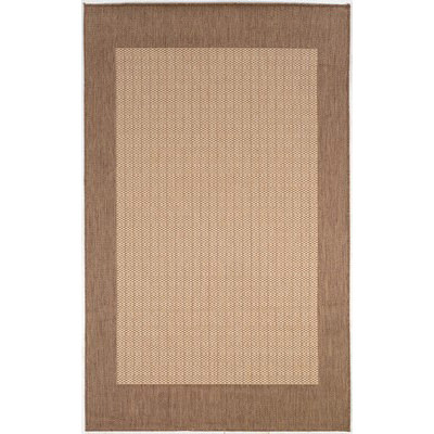 Recife Checkered Field Natural/Cocoa Outdoor Rug (1ft 8in x 3ft 7in)