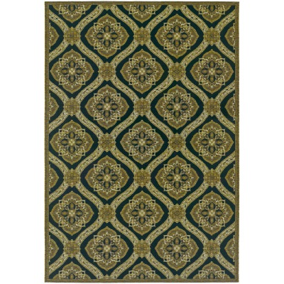 Dolce Napoli Black and Gold Outdoor Rug