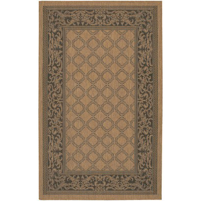 Recife Garden Lattice Cocoa/Black Outdoor Rug (1 ft 8 in x 3 ft 7 in)