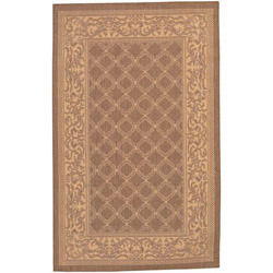 Recife Garden Lattice Cocoa/Natural Outdoor Rug