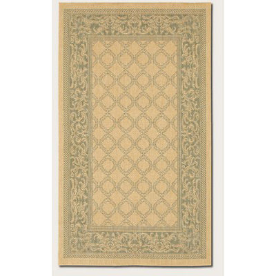 Recife Garden Lattice Natural/Green Outdoor Rug (1 ft 8in x 3 ft 7in)