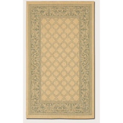 Recife Garden Lattice Natural/Green Outdoor Rug
