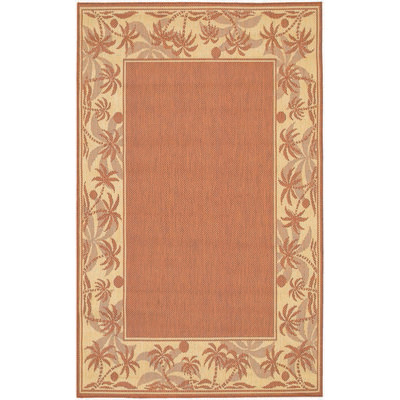 Recife Island Retreat TerraCotta/Natrl Outdoor Rug (1ft 8in x 3ft 7in)