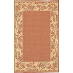Recife Island Retreat Terra-Cotta/Natural Outdoor Rug