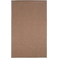Recife Saddle Stitch Cocoa/Natural Outdoor Rug