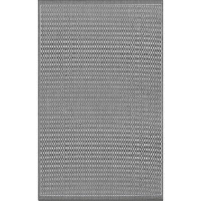 Recife Saddle Stitch Grey/White Outdoor Rug (2 Ft X 3 Ft 7 In)