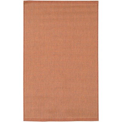 Recife Saddle Stitch TerraCotta/Natrl Outdoor Rug (1ft 8in x 3ft 7in)