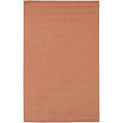 Recife Saddle Stitch Terra-Cotta/Natural Outdoor Rug