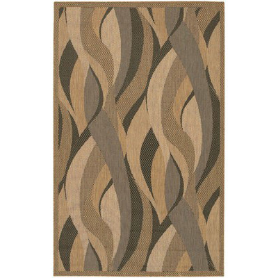Recife Seagrass Natural/Black Outdoor Rug (1 ft 8 in x 3 ft 7 in)