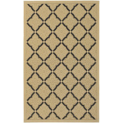 Five Seasons Sorrento Cream/Black Outdoor Rug