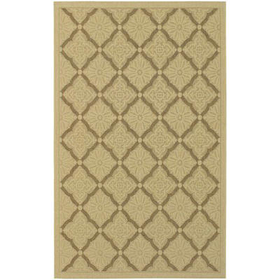 Five Seasons Sorrento Cream/Gold Outdoor Rug