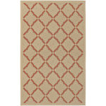 Five Seasons Sorrento Cream/Terracotta Outdoor Rug