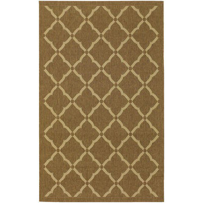 Five Seasons Sorrento Gold/Cream Outdoor Rug