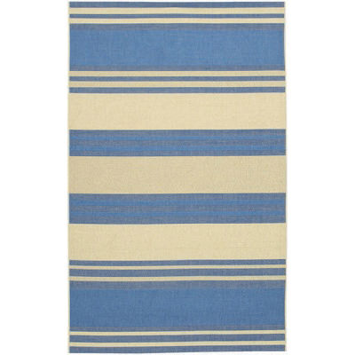 Five Seasons South Padre Blue/Cream Outdoor Rug (1 ft 11in x 3 ft 7in)