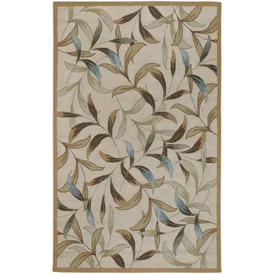 Covington Spring Vista Neutrals/Blue Outdoor Rug (2 ft x 4 ft)