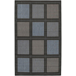 Recife Summit Blue/Black Outdoor Rug