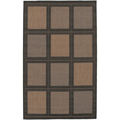 Recife Summit Cocoa/Black Outdoor Rug (1 ft 8 in x 3 ft 7 in)