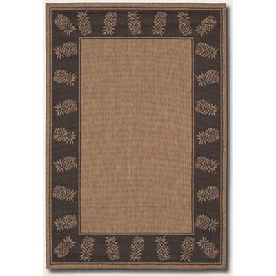 Recife Tropics Cocoa/Black Outdoor Rug (1 ft 8 in x 3 ft 7 in)