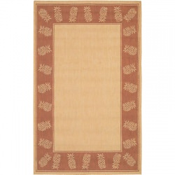 Recife Tropics Natural/Terra-Cotta Outdoor Rug