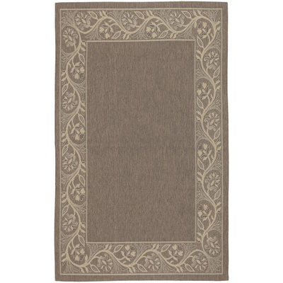Five Seasons Tuscana Brown/Cream Outdoor Rug (1ft 11in x 3ft 7in)
