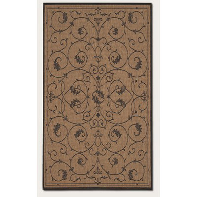 Recife Veranda Cocoa/Black Outdoor Rug
