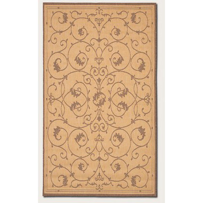 Recife Veranda Natural/Cocoa Outdoor Rug (1 ft 8 in x 3 ft 7 in)