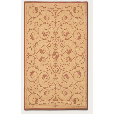Recife Veranda Natural/Terra-Cotta Outdoor Rug (1 ft 8 in x 3 ft 7 in)