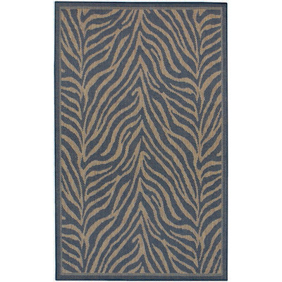 Recife Zebra Black/Cocoa Outdoor Rug (1 ft 8 in x 3 ft 7 in)