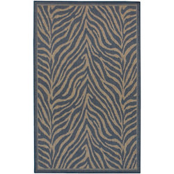 Recife Zebra Black/Cocoa Outdoor Rug