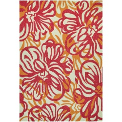 Covington Hibiscus Rosebud and Honey Outdoor Rug