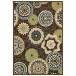 Covington Stella Chocolate Multi Color Outdoor Rug