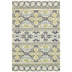 Covington Willow Branch Ivory and Navy Outdoor Rug